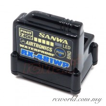 Sanwa RX-481WP 2.4GHz FHSS4 4 Channel Waterproof Receiver (#107A41311A)