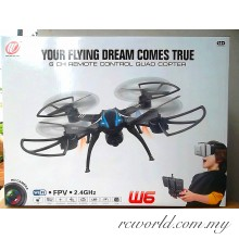 W6 WiFi FPV 6CH 2.4Ghz HD Camera RC Quacopter (support VR Box)