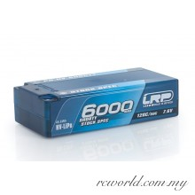 LRP P5-HV Shorty Stock Spec GRAPHENE 6000mAh Hardcase Battery - 7.6V LiPo - 120C/60C (For Drive)