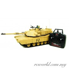 Heng Long 1:16 M1A2 Abrams RC BB Battle Tank - 2.4GHz - Pro Version (With Smoke and Sound)