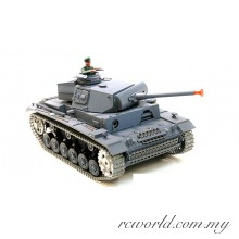 Heng Long 1:16 Panzerkampfwagen III RC Battle Tank - 2.4GHz (BB Bullet and Smoke Effect)