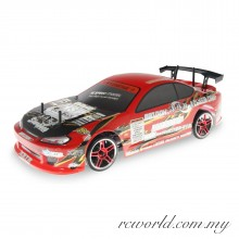 HSP 1/10 Flying Fish Electric 4WD 2.4G RC Drift Race Car with LED Light (Model NO:94123T)