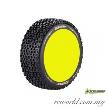 Louise B-PIRATE 1/8 Scale Off Road Buggy Tires Soft Compound / Yellow Rim / Mounted (L-T3126SY) - 2pcs