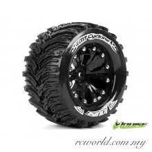 "Louise MT-CYCLONE 1/10 2.8"" Monster Truck Tires - TRAXXAS Bead Soft Compound / Black 1/2 Offset Rim (L-T3226SBH) - 2pcs"