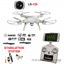 LEASON LS-126 WiFi FPV  2.4GHZ 4CH RC Quadcopter