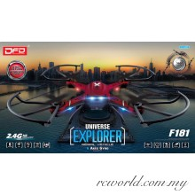 DFD F181 + 2MP Camera + Headless Mode + 1 Key Return 2.4G RC Quadcopter
