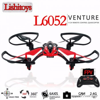 LISHI L6052W 2.4G 4CH 6Axis 3D Fly RC Quadcopter Aircraft+wifi FPV HD Camera