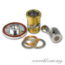 Novarossi 08672 Complete Couplings 2,1cc Long Stroke Rear Exhaust Chromed 3Ports CNC Piston +2,3mm