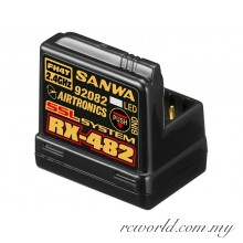 Sanwa RX-482 4 Channel 2.4GHz FH4T Receiver (#107A41257A)