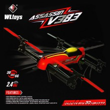 WLtoys V383 500 Electric 3D Inverted Flight 6 Axis Gyro 2.4GHz 6CH RC Quadcopter