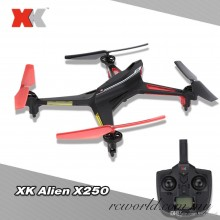 XK Alien X250 2.4G 4CH 6-Axis Gyro One-button Rolling LED Light RC Quadcopter